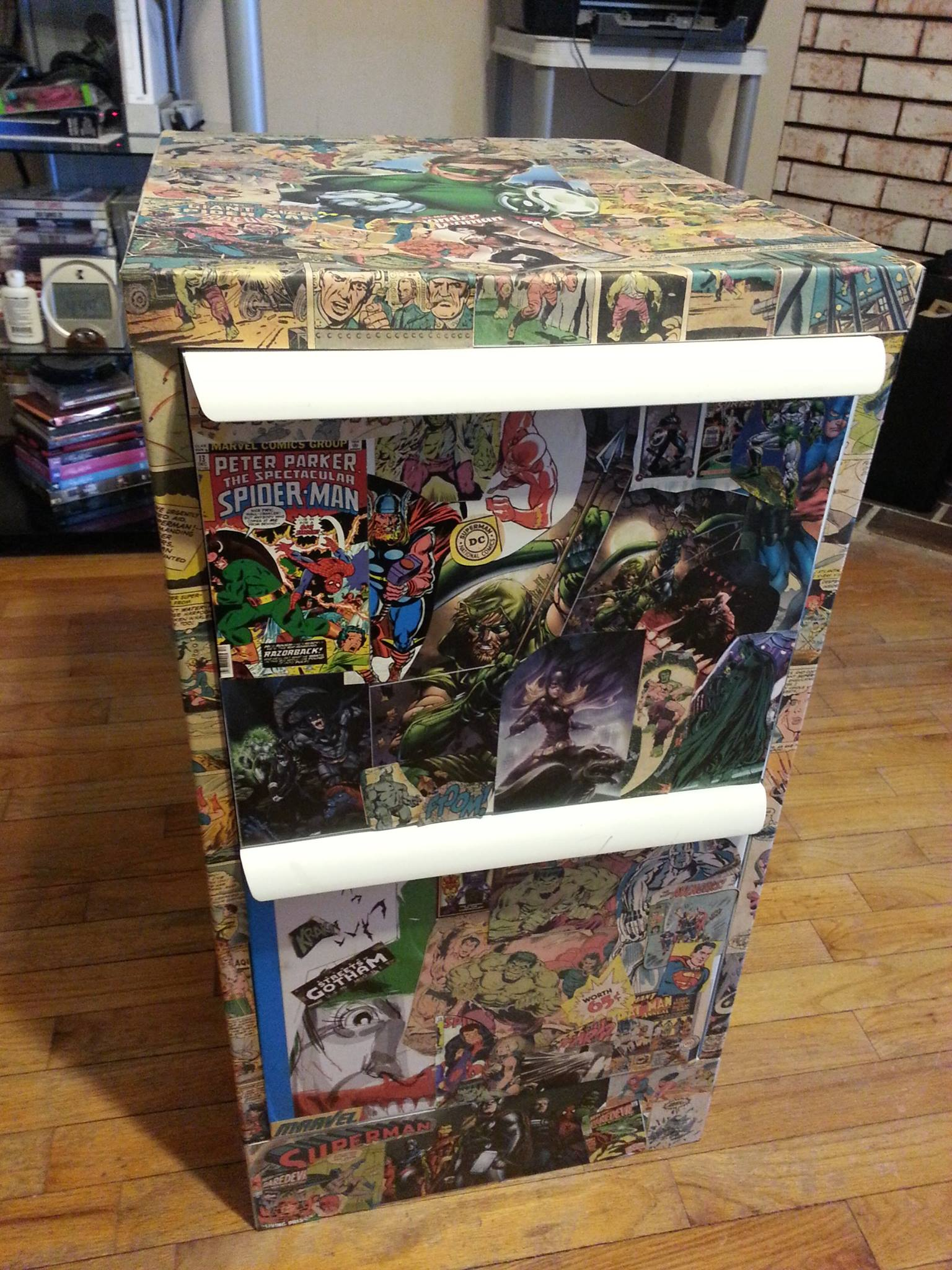 Comic Book Storage Cabinets Heres How To Decorate A Comic Filing Cabinet